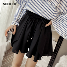 NEEDBO Women Shorts Skirts High Waist Casual Plus Size Sexy Office Ladies Summer For Wide Leg
