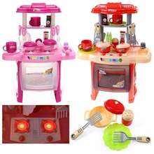 Simulated Children Plastic Toys Pretend Play Food Home Kitchen Kitchenware Girl Boys Cooking Toys 1-4 Year Birthday Gift
