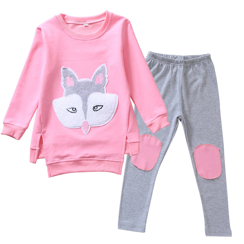 Girls Cartoon Tops & Pants Suits Autumn Kids Clothing Sets for Girls Cotton Outfits Child Clothes Sets 4 6 8 9 10 12 Years Suits