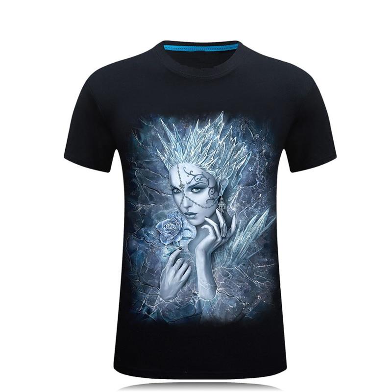 Férfi lány nyomtatott 3D-s póló 2017 divat Nyári hip-hop ruházat Plusz méret 6XL O nyak rövid ujjú alkalmi pamut pólók
