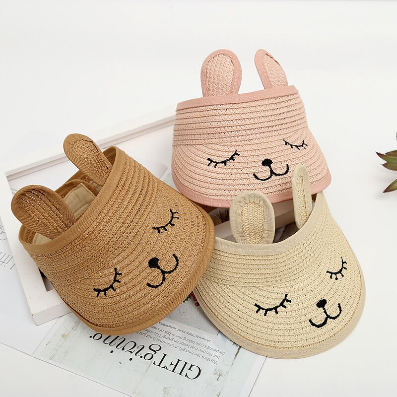 8e64f010ec5767 MAERSHEI summer children's cat empty top straw hat Korean casual shade  sunscreen beach sun hat
