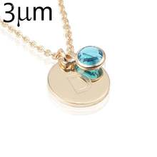 Letter Necklaces for Women 18 Gold Color Personalized Alphabet Initial Necklace 12 Glass Birthstone Necklace for Birthday Gift