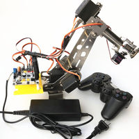 arduino remote control PS2 stainless steel robotic arm 6 DOF robot