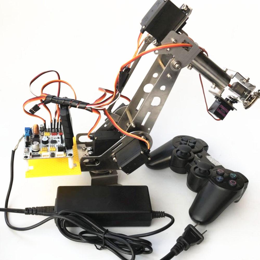 arduino remote control PS2 stainless steel robotic arm 6 DOF robot 6 dof robotic arm model motor servo cnc all metal robot arm structure servos industrial robot diy rc toy uno