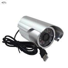 HD Пуля ИК-Аналоговые Cctv Камеры Micro SD TF Слот Для карты DVR USB Обнаружения Движения Открытый Водонепроницаемая Камера С кронштейн