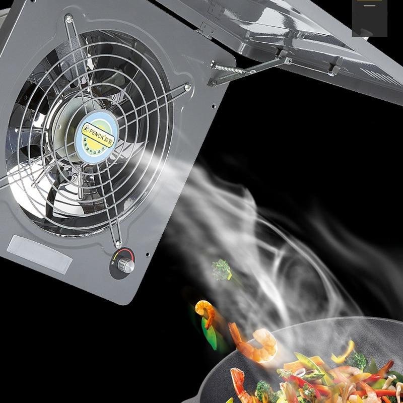 10 Inches Exhaust Fan Flip Cover Kitchen Industry Window Type Ventilation Fan