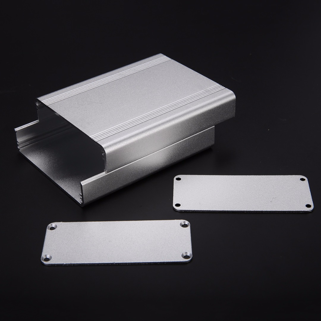 New Aluminum Extruded Enclosure Box Silver Electronic Project Split Body Case 110x88x38mm 215 52 263 mm w h l aluminum extruded enclosures housing project box case