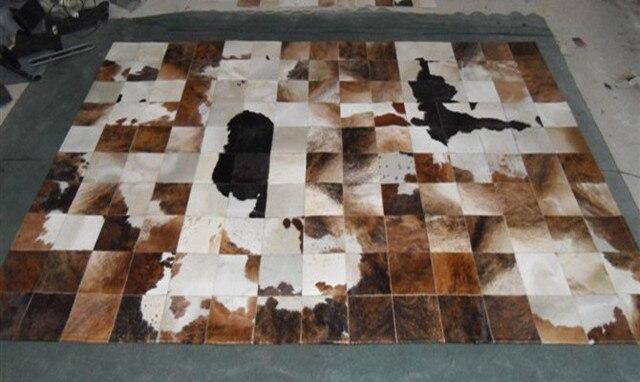 2018 spedizione gratuita Eco Friendly tappeto in pelle di mucca in ...
