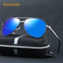 BANMAR HD Vendimia Hombres Piloto gafas de Sol Polarizadas de Conducción Gafas hombres gafas de sol Hombre gafas de sol lentes de sol hombre XY110