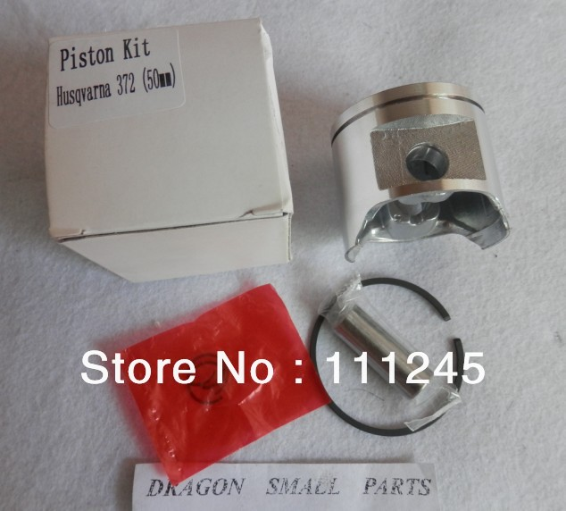 PISTON ASSY  50MM  FITS HUS.  372 CHAINSAW CYLINDER KIT KOBLEN RINGS CIRCLIP PI   CHAIN SAW PARTS REPL. PARTS # 503 69 13-03 piston