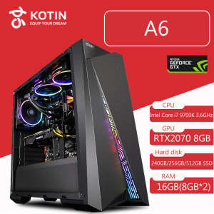 Kotin Intel Core i7 9700 K 3.6 GHz Gaming PC Desktop Z390 RTX 2070 8 GB GDDR6 GPU