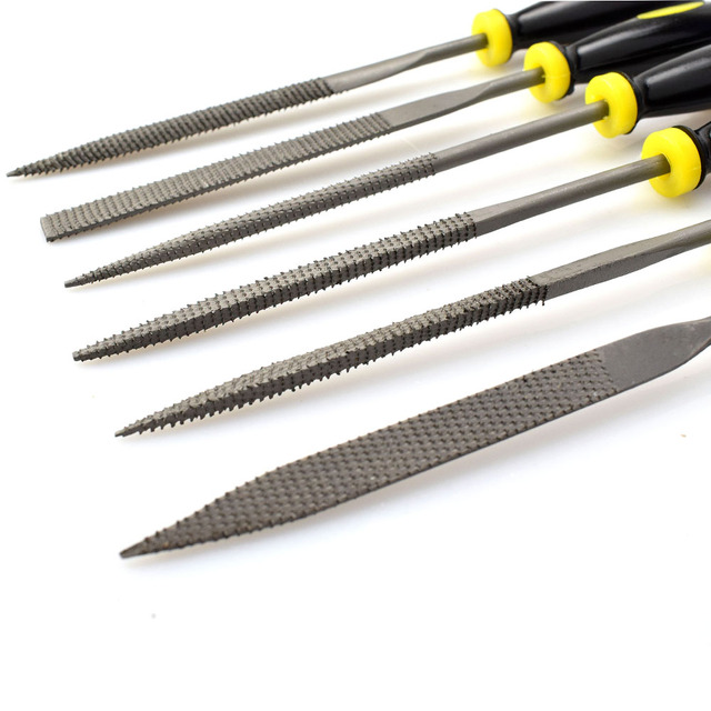 6pcs Needle File Microtech Metal Filing Files Set Filling Tool Rasp Woodworking Wood Carving Tools Diy Folder Hobby Tools Hand