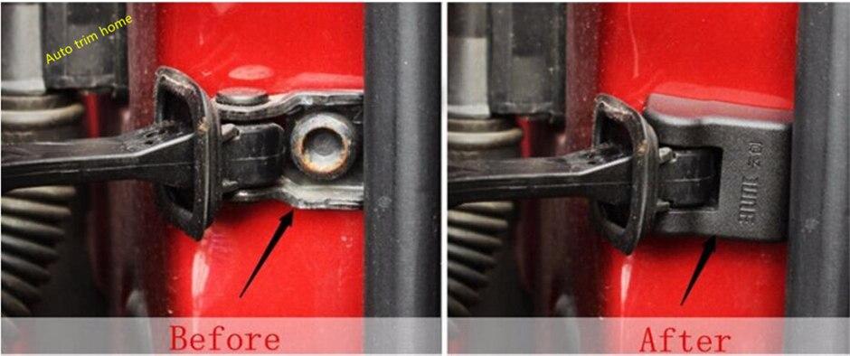 For Skoda Octavia Fabia Rapid Superb Yeti Plastic Door Arm Stop Rust Waterproof Protector Molding Garnish Cover Trim 4 Piece