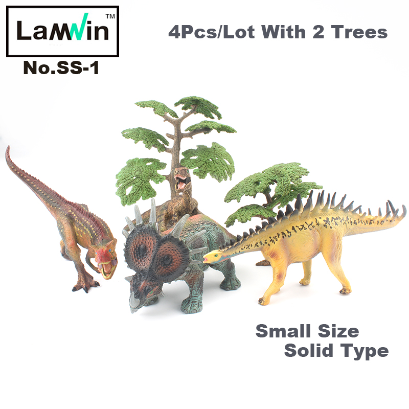 Lamwin 4Pcs/Lot Small Size Mini Dinosaurs Toy Set Solid Action Figure Dinossauro Egg Model Collection Free Gift free shipping super big size 12 super mario with star action figure display collection model toy