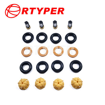 Four Sets 0280150440 Fuel Injector Repair Kits Micro Filter Oring Plastic Gasket Pintle Cap 02102 For BMW E60 E39 E36 520i 318ti image