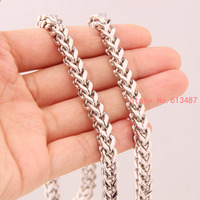 23 6 Hot Sale Men S Jewelry Silver Tone 316L Stainless Steel Figaro Chain Necklace Good