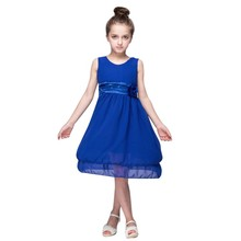 Newest Summer Kid Girl Dress Party Lace Sleeveless Pageant Wedding Flower Tutu Princess Dresses