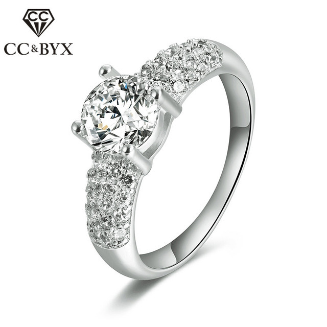 Fine Rose Gold Color Rings for Women Trendy Vintage Wedding Engagement Rings Fashion Jewelry Accessories Wedding Bands 18KR003
