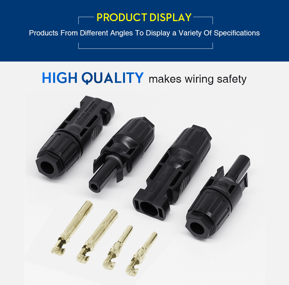 EASUN POWER 10 Pairs X MC4 Connector Male Female Solar Connector MC4 Solar Panel Branch Series Connect For Solar Power System_11