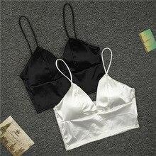 New Sexy Women Sexy Strap Silk smooth Plunge Bralette Bra Sleeping brassiere Pus