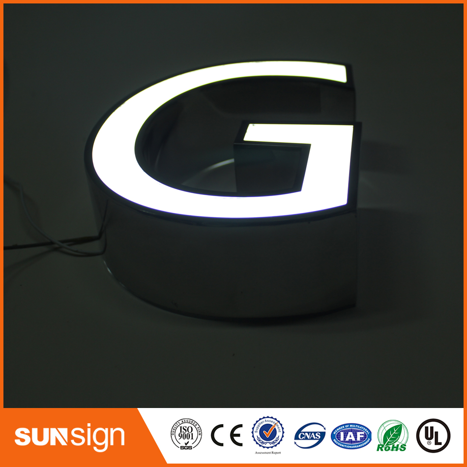 Diy Frontlit Stainless Steel Led Letters