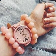 2017 Hot Fashion Creative Brand Women Watches Geneva Candy Jelly Color Leather Quartz Analog Dress Female Wristwatch Reloj Mujer