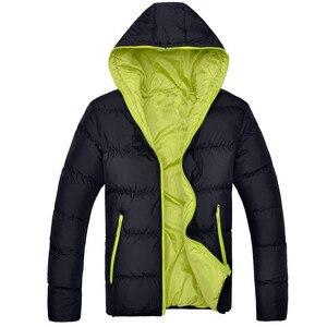 Image 4 - Bolubao casaco masculino moderno e casual, jaqueta masculina, cor sólida, simples, com capuz, moda de inverno