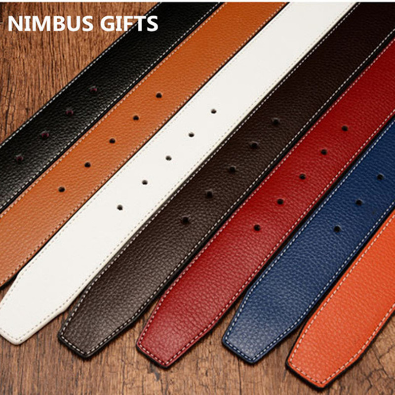 GENUINE Leather Designer H Belts Womens Men Luxury Belts Gold Buckle Silver Buckle Ceinture Homme With Orange Box -2