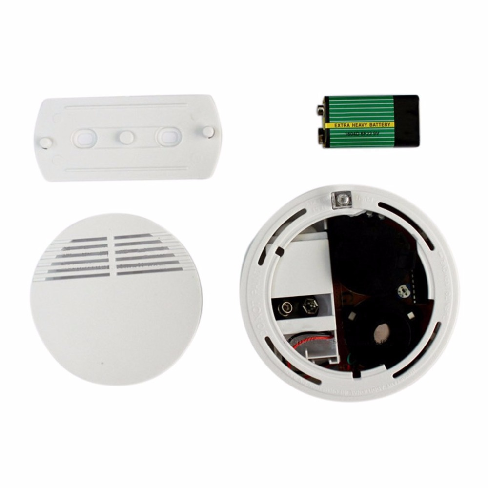 2pcs 5pcs 10pcs Smoke Sensor Alarm Sensitive Photoelectric Independent Fire Smoke Detector For Home Security Alarm System Fire Protection