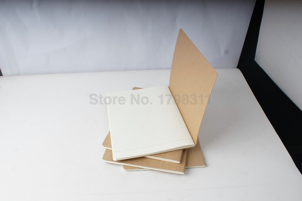 Brown Kraft Paper Printing Notebook Thin Book Lined Page/Blank Page