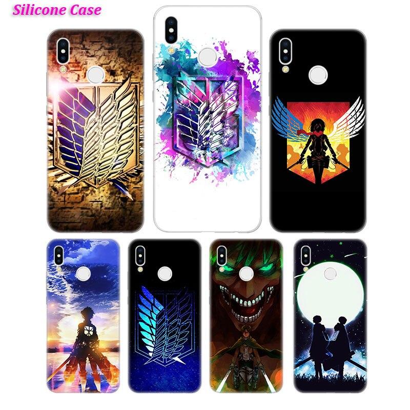Silicone Phone Case Anime Attack On Titan for Huawei Honor 7C 7A 8 8X 9 10 Y5 Y6 Y7 Y9 V20 Lite Pro 2019 2018 Nova 3 4