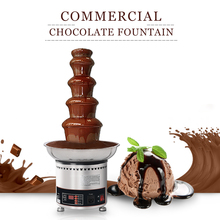 ITOP Stainless Steel Chocolate Fountain Waterfall Machine Melting Warming Function 5 Tiers Ship From Germany EU/UKPlug