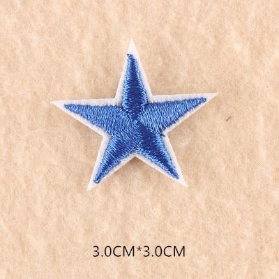 1 шт. смешанные нашивки со звездами для одежды, железная вышитая аппликация, милая нашивка эмблема на ткани, одежда, аксессуары для одежды DIY 61 - Цвет: 61B