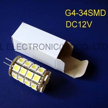 High quality 12v 34SMD 5050 G4 led lights,DC12V G4 led bulb,GU4 led lamp,led G4 bulb (free shipping 2pcs/lot)