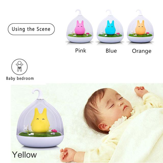 Noche de Luz LED Lámpara de Spiderwick Vibración Sensor Dimmer Dormitorio decoración luminaria de Interior Del Sitio Del Bebé de mesa