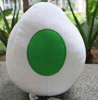 Super Mario Bros Plush Toys Yoshi Dragon Eggs White 8 Cute Kawaii Soft Stuffed Doll Baby