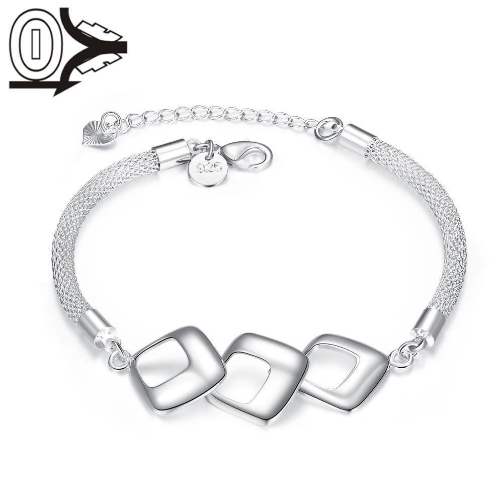 livraison gratuite en gros argent plaqu bracelet accessoires de 3D Printed Turbine livraison gratuite en gros argent plaqu bracelet accessoires de bijoux de mariage personnalis g om trie creux carr bracelets bracelet