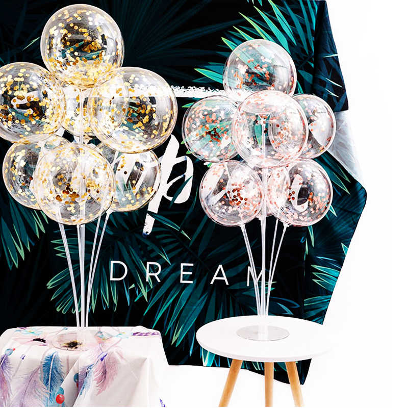 Brilliant 7 Tubes 1Sets Balloons Stand Balloon Holder Column Wedding Table Decoration Supplies Baby Shower Kids Birthday Party Accessories Download Free Architecture Designs Scobabritishbridgeorg