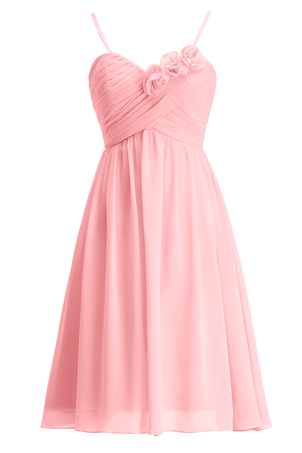 ynqnfs New Holy Communion Party Pink Mint Green Empire Waist Short Bridesmaid Dress Cheap