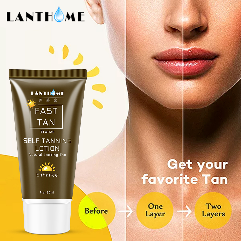 Sun Tan Oil Self Tanner Solarium Cream Tanning Salon Bronzer for The Body Sunblock Makeup Foundation Fast Spray Tanner Lotion(China)