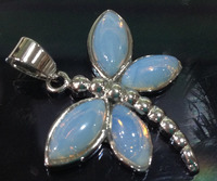 NEW White Opal Dragonfly Pendant Necklace AAA Dongguan Girl Store Free Shipping