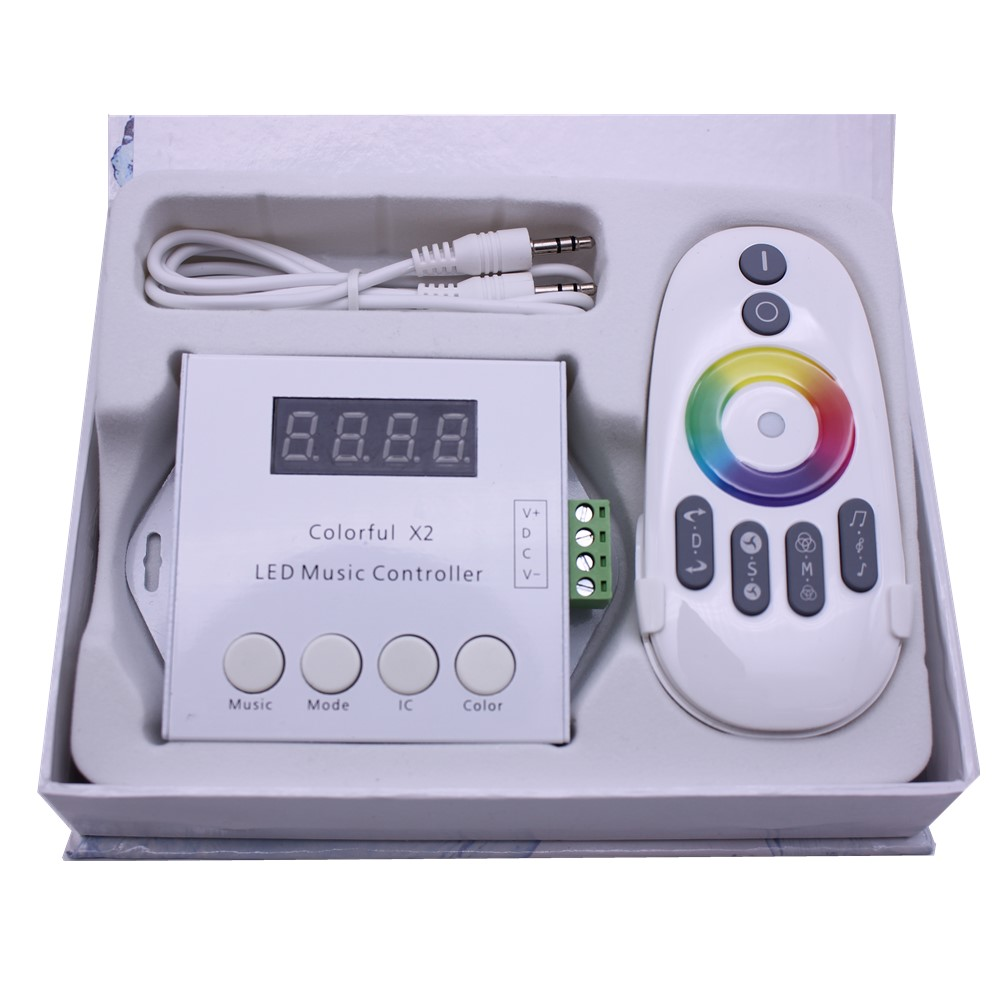 Lighting Accessories Lower Price with Dc5v-24v Ws2812b Ws2811/ws2813/usc1903 Magic Led Tape Digital Colorful Music X2 Controller With Rf Touch Remote Max 1000pixels Bracing Up The Whole System And Strengthening It Lights & Lighting
