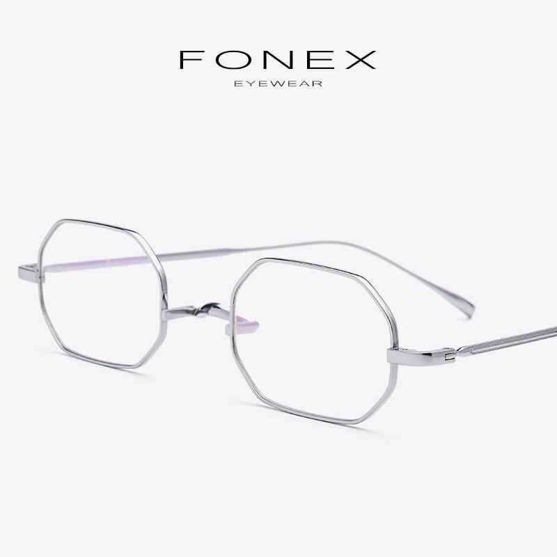 B Titane cadre de lunettes Femmes Ultra-Léger Petit Lunettes Prescription Myopie cadre optique Hommes Rétro monocle Lunettes 9119