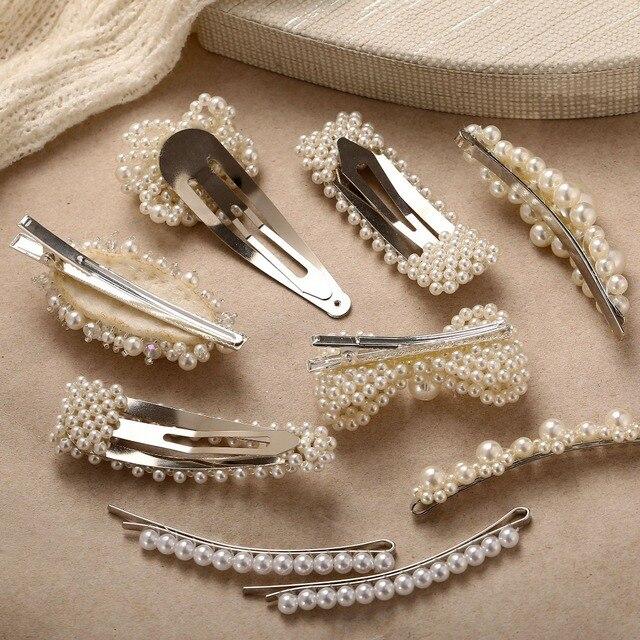 Купить винтажные украшения для волос с искусственным жемчугом золотого