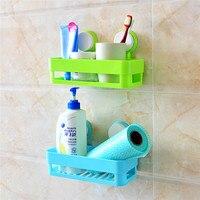 Kitchen Storage Holder Bathroom Shelf Non Nail Wall Mounted Type Plastic Suction Cup Hook Sucker Bathroom