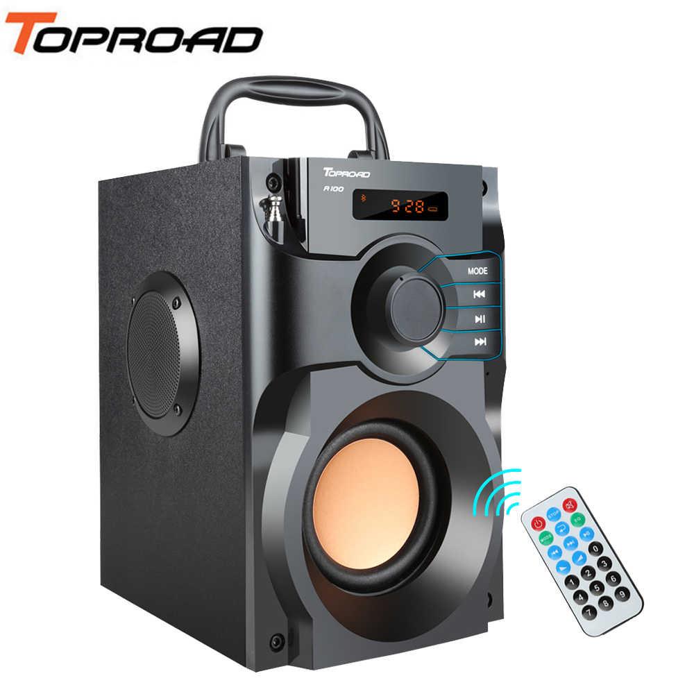59faade2b2 TOPROAD Wireless Bluetooth Speaker Stereo Subwoofer Bass Speakers Column  Soundbox Support FM Radio TF AUX USB