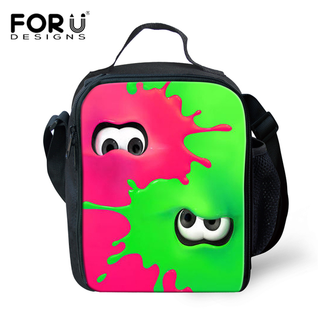 FORUDESIGNS High Quality Men Lunch Bag Cool Splatoon 2 Prints Lunch-bag for Women Insulated Adult Lunch Box Kids Cute Lunchbags