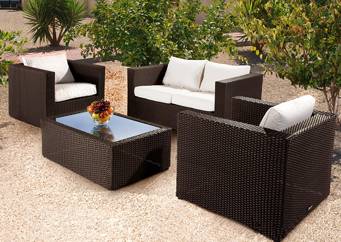 Sigma Outdoor Patio Furniture Set Rattan Sofa Mode.