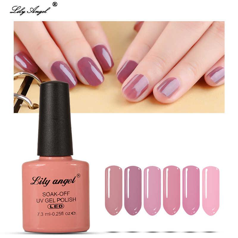 Lily Angel duradera remojo 7,3 ml 110 colores de esmalte de uñas de Gel UV lámpara LED Gel barniz Semi permanente de Gel de uñas 77-110