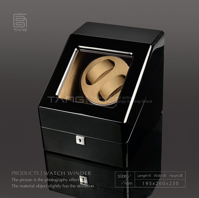 TANG Wood Watch Winder Fashion Black Piano Finish Automantic Self Watch Winders Watch Storage Box Watch Display Cases B0100-0148 акустика центрального канала paradigm prestige 55c piano black
